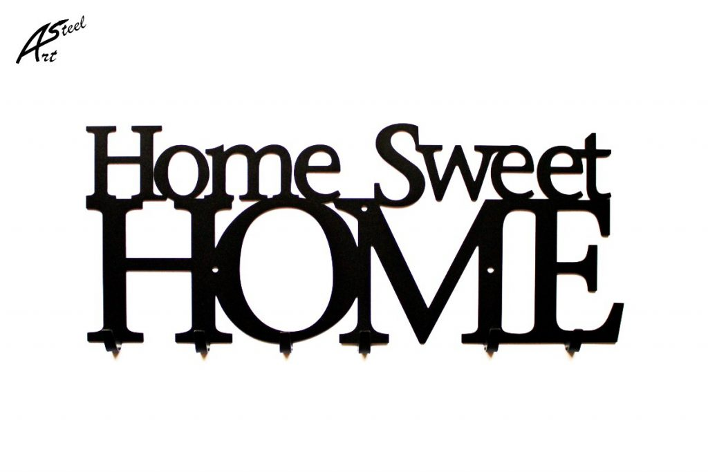 Home Sweet Home Art-Steel